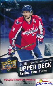 2015-16-Upper-Deck-Series-2-Hockey-Factory-Sealed-HOBBY-Box-18-Young-Guns