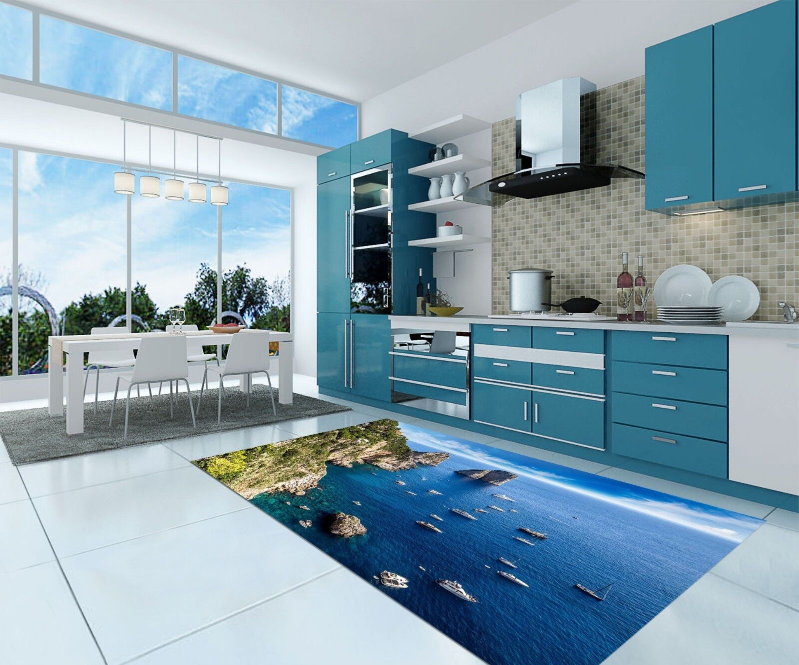 3D Sea Islands 50 Kitchen Mat Floor Murals Wall Print Wall Deco AJ WALLPAPER CA
