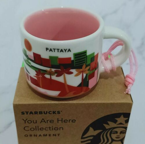 Starbucks Mug YAH You Are Here Demi Cup Pattaya 2 oz.Ornament Free Tracking