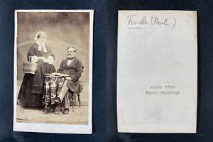Gilbert, Paul Foucher, librettiste  Vintage cdv albumen print.Paul-Henri Fouch