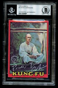 David Carradine #3 signed autograph 1973 Kung Fu Trading Card BAS Slabbed
