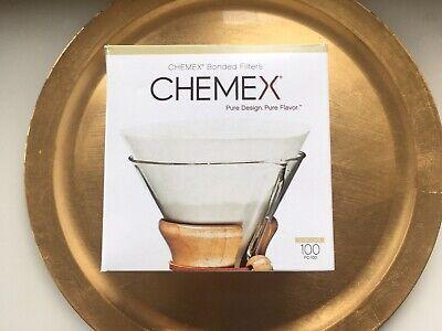 10 Tassen,100Stk Vorgefaltetes Chemex Filterpapier 8 Halbkreis passend für 6