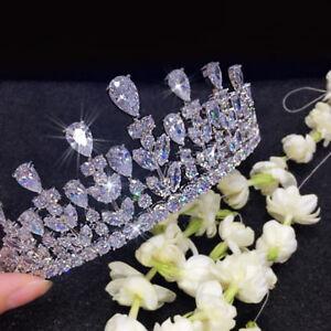 Luxus Strass Diadem Tiara Hochzeit Strass Braut Haarschmuck 100