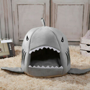 Shark-Pet-Basket-Bed-House-Cosy-Cat-Dog-Sleeping-Soft-Puppy-Kennel-Mat-Pet-Tent