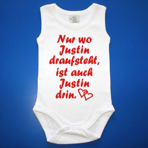 Babybody Baby Body mit Wunschname und Spruch Unterwäsche Strampler Babyparty