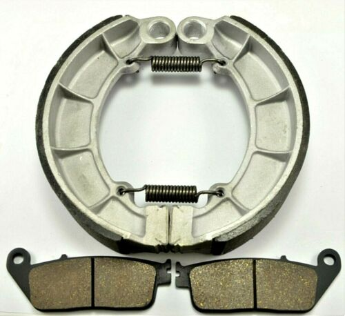 HONDA SHADOW ACE 750 Deluxe VT750CD BONDED FRONT PADS /& BRAKE SHOES 2002-2003