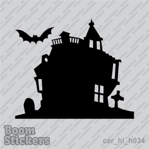 Castle Cemetery bat grave Halloween BUY 1 GET 1 FREE Vinyl Decal Sticker BOGO