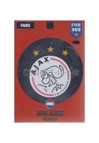Panini fifa 365 cards 2017-230-club badge-club badges-AFC Ajax