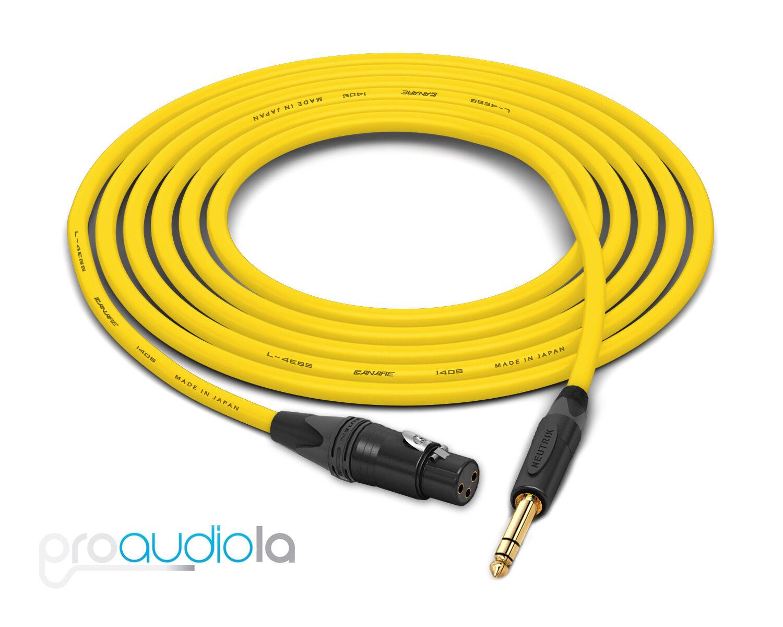 Canare Quad L-4E6S Kabel Neutrik Gold Xlr-F Trs Gelb 18.3m 18.3m 18.3m