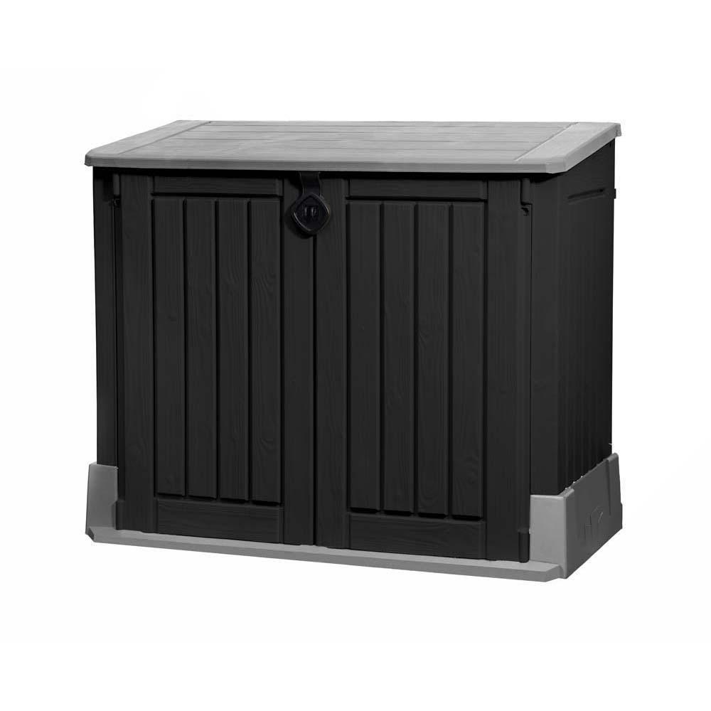 845l    Gartenschrank in schwarz-grau TEPRO STORE IT OUT MIDI Terrasse Außen Campi a80150