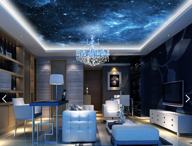 3D Blau Night 953 Ceiling WallPaper Murals Wall Print Decal Deco AJ WALLPAPER GB