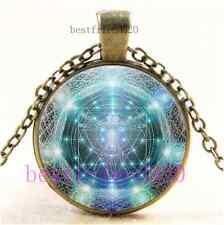Bronze Crown Pendant Necklace wVCzech Cathedral Glass Shibuichi Metal Vintage Czech Glass /& Saki Bronze Toggle Clasp