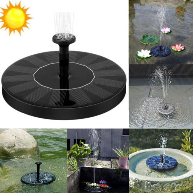 160mm Solar Powered Floating Pump Water Fountain Birdbath Home Pond Pool Garden