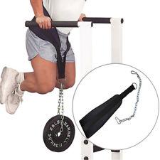 Weight Lifting DIP Belt Gym Waist Strength Training Fitness Pull up Power Chain