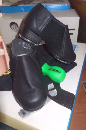 NEW//BOX Leather Neoprene Tap Boot Unisex  #3523 Black greatSOUND adjustable taps
