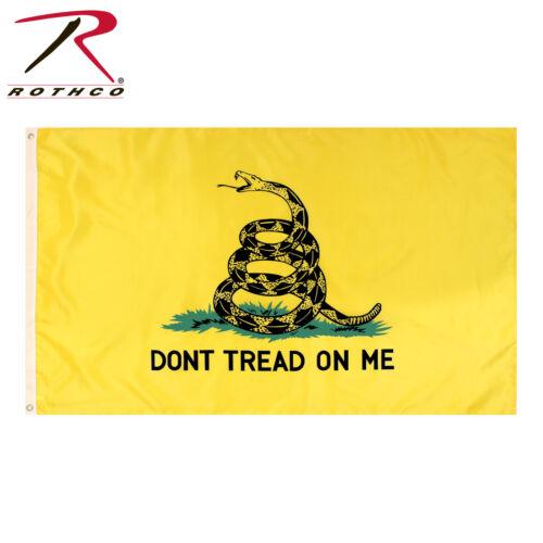 "Rothco /""Don/'t Tread On Me/"" Military Flag Yellow Flag With Gadsden Snake"
