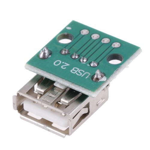 5 Stück Typ A Buchse USB zum DIP 2,54 mm Leiterplattenanschluss USB LeiterpRSPF