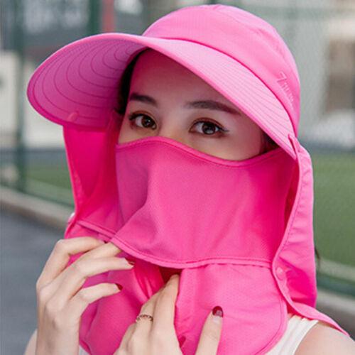 Womens Ladies Hat Sun Wide Brim Cap Beach Summer Visor Uv Straw Cover Protection