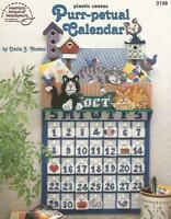 Purr-petual Calendar Plastic Canvas Patterns Kitty Cats Perpetual Asn 3198