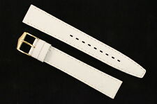 FORTIS Uhrenarmband 16mm Weiß Kalbsleder mit Strauß-Narbung