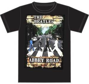 Image Is Loading Official T Shirt THE BEATLES ABBEY ROAD BRICK
