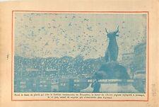 Lâcher de Pigeons sculpture Taureau Fontaine du Trocadéro 1934 ILLUSTRATION