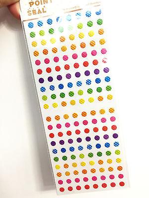 1 x sheet Colorful Dot stickers scrapbook DIY Cute Mini  #108