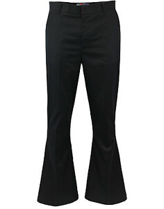 NEW MADCAP ENGLAND RETRO MOD TAILORED BELL FLARES Trousers 60s MC242 BROWN Bolan
