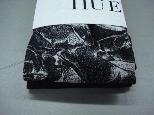 NWT Hue Women/'s Bold Rose Tights Size M//L Black #959K