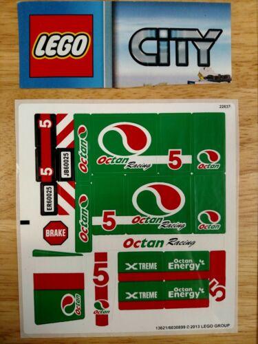 LEGO Original City Grand Prix Truck 60025 Unused Sticker Sheet Ships Free in US!