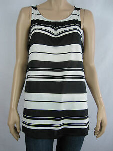 Crossroads-Ladies-Sleeveless-Pleat-Neck-Top-size-14-20-Colour-Variagated-Stripes