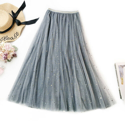 Beauty3 Layers Women Girl Lace Maxi Long Tulle Skirt Party Tutu Ball Gown Dress