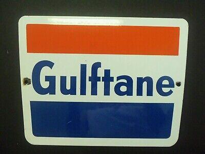 30/'/' Door pushbar antique vintage GULF OIL gasoline advertising sign