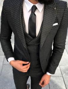 50 jasje getailleerd geruit Business Grijs heren Designer zwart Vest N8mvn0w