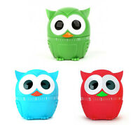 Kitchen Timer 60 Minutes Sound Owl Owlet Cooking Accessory Ring Red Blue Green
