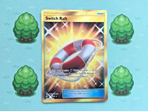 Pokemon Secret Rare 77//70 SM Dragon Majesty Switch Raft