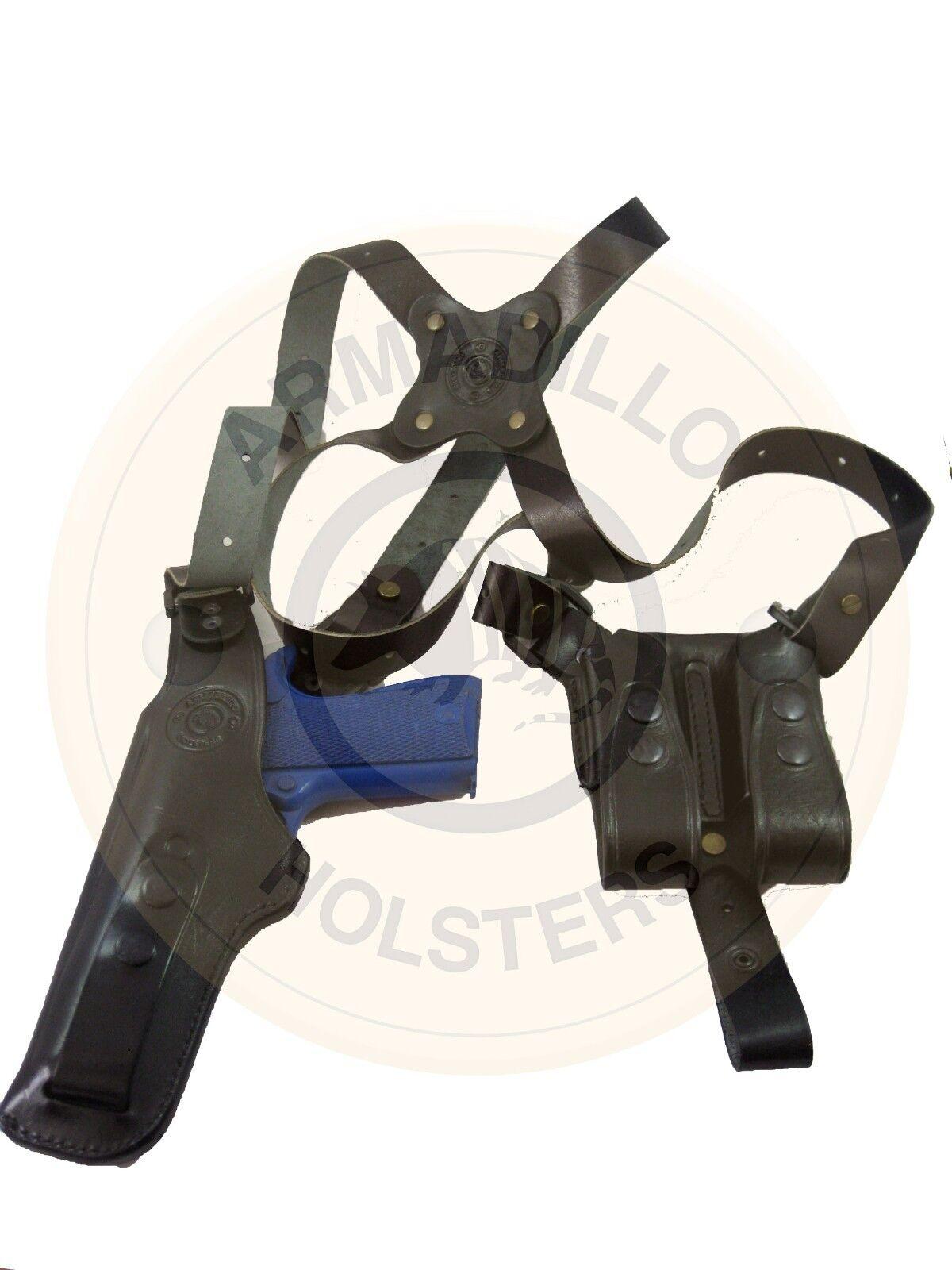Armadillo De Cuero Negro verdeicall Pistolera de hombro Para Glock p3v