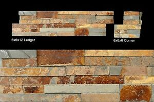 Butterscotch | Stone Ledger | 6x24 Stack Stone Panel