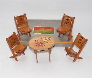 alte frühe Gartenmöbel Sommermöbel aus China für Puppenstube mit OVP #F266