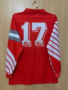 SWITZERLAND NATIONAL TEAM 1990/1992 MATCH WORN HOME FOOTBALL SHIRT JERSEY BLACKY