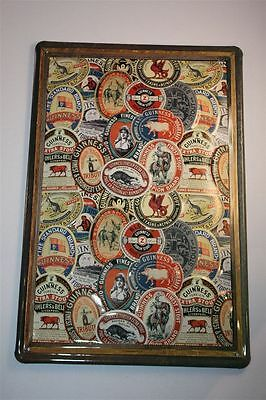 """3D Tin Sign Guinness Beer 20x30 cm """" FRAMED LABEL COLLAGE 2 """" Ireland Tin Sign"""