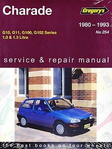 details about gregorys workshop repair manual daihatsu charade g10 g11 g100 g102 1980 1993