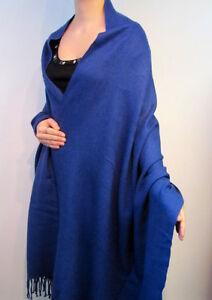 1.8m Long 1m W Formal Wear Polyester Royal Blue Scarf, Unisex Birthday Xmas Gift Schmerzen Haben