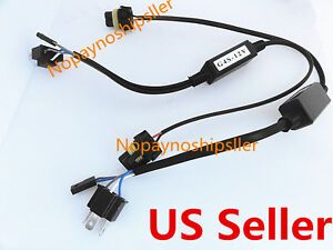 Car Auto H4 9003 HB2 HID Relay Harness HI/LOW Beam Xenon Bulbs ...