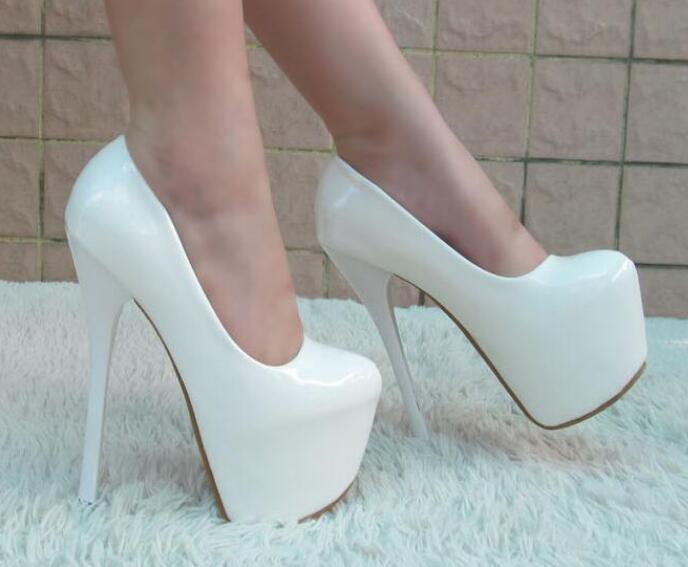 Womens Platform Super Super Super High Stilettos Heels Patent Leather Bridal shoes  mgic 69a58b