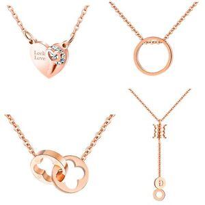 Damen-Schmuck Halskette Schmetterling Platiniert Pink Geschenk zu Weihnachten