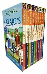 Enid-Blyton-Complete-St-Clare-039-s-9-Book-Library-Summer-Term-At-St-Clare-039-s-Second
