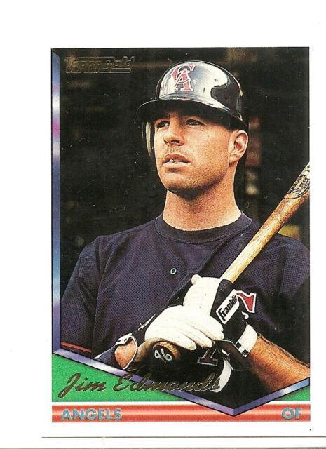 Jim Edmonds California Angels 1994 Topps Gold Baseball Card 404 Rookie Rc Mint