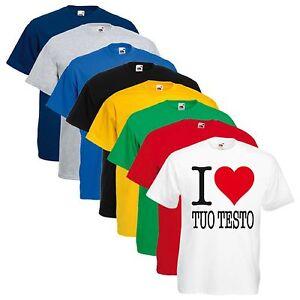 T-SHIRT-UNISEX-I-LOVE-YOUR-TEXT-TUO-TESTO-LOGO-PERSONALIZZATA
