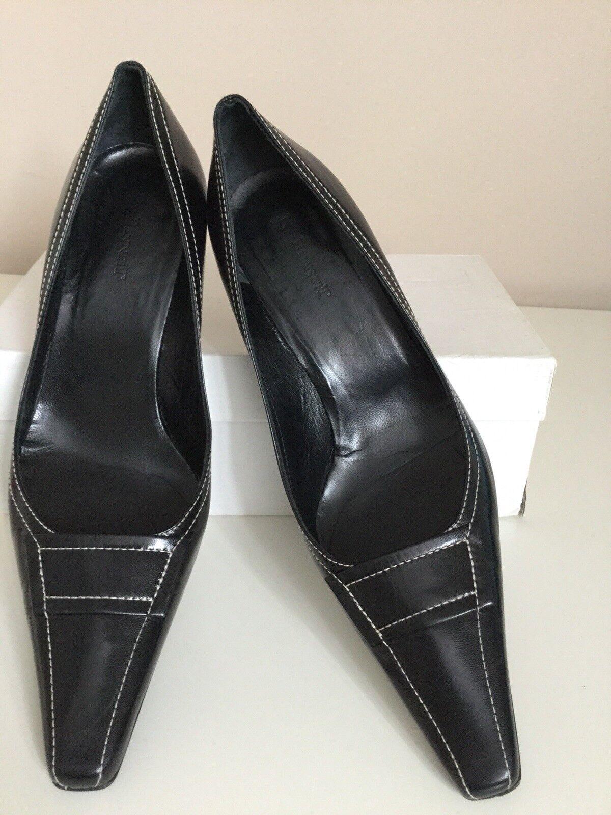 LK Bennett Noir Mia Cour Chaussures Taille 40.5